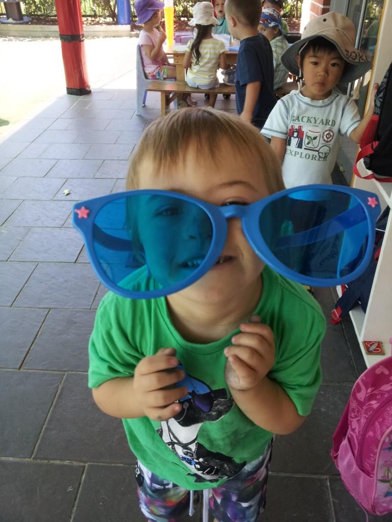 sos preschool Bison with sunglasses